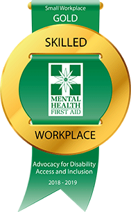 Mental Health First Aid Gold Skilled Workplace